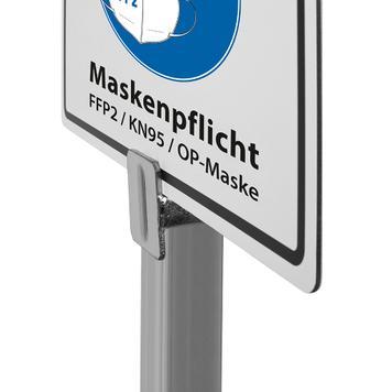 Infodisplay mondkapjes verplicht! - FFP2, KN95, medische mondkapjes
