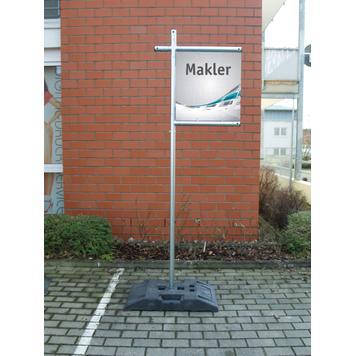 "Bannerframe systeem staal ""Makler"""
