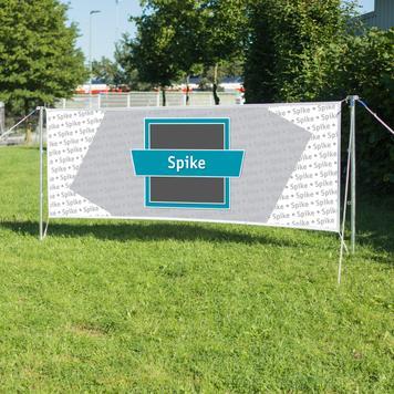 """Banner voor spanset """"Spike"""""""
