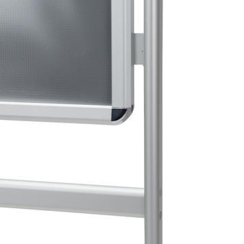 """Porte-affiche  de sol """"Info"""", profilé 32 mm, argent anodisé"""