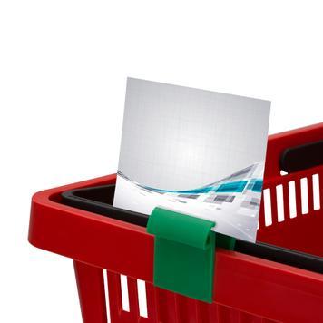 Display clip voor boxen en manden