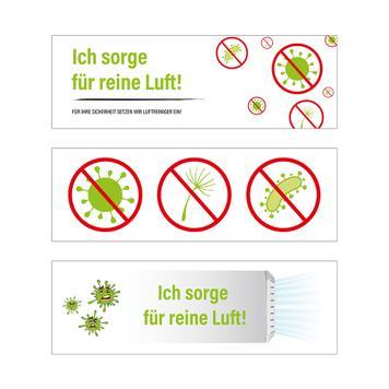Sticker-set voor luchtreiniger
