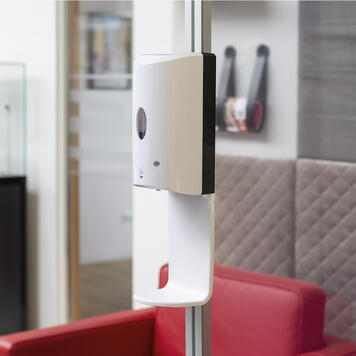 Sensor-Wall - uitbreidingsset desinfectiedispenser voor stretchframes en 30 mm Quattro profielen