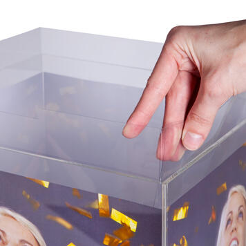 Banderol voor loterijbox