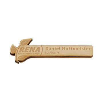 """Naambadge """"Nerine"""" │ hout"""