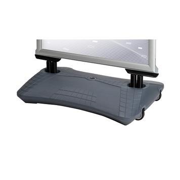 """Regenbestendig stoepbord WindSign """"Seal"""", 44 mm profiel, zilver/grijs"""