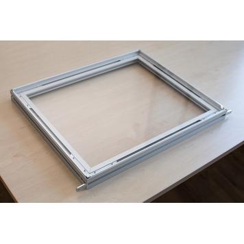 Uitbreiding voor scheidingswand uit aluminium stretchframe