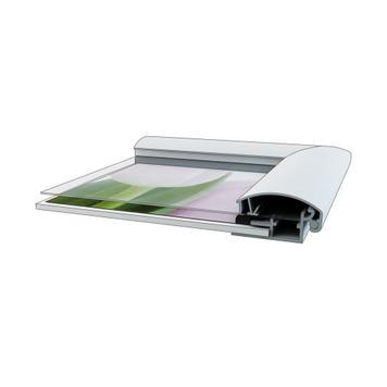 """Regenwaterbestendig stoepbord """"Smart"""", 25 mm profiel, met hoeken in verstek"""