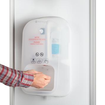 """Desinfectiezuil""""Multi"""" 2-zijdig met Steripower handdesinfectiedispenser"""